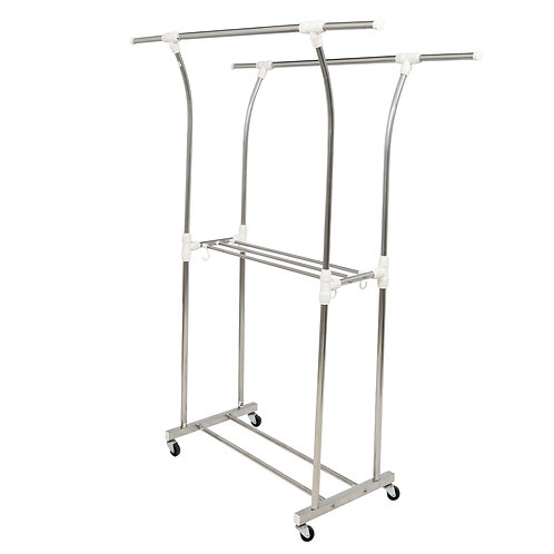Double curved stainless steel drying rack with Prota towel drying rack