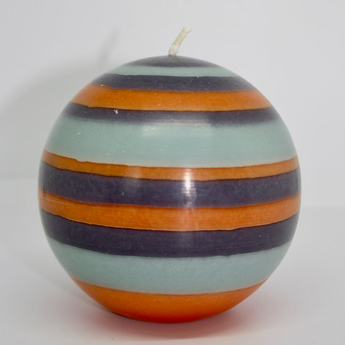 Large Striped Ball Candle