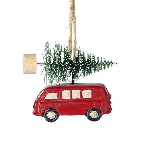 Small camper van & tree