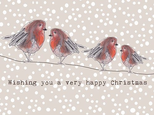 Special Robin Family Christmas Card