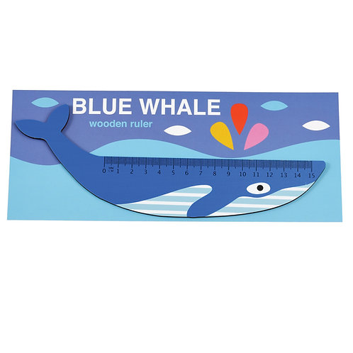 Whale Wooden Ruler