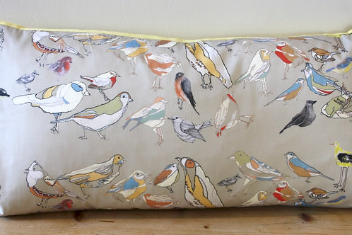 Olive Bird Repeat Cushion