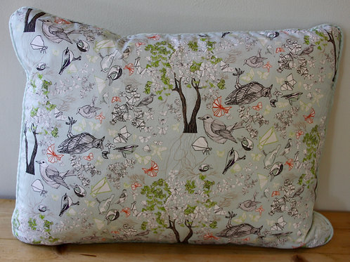 Japanese Bird Repeat Cushion (rectangular)