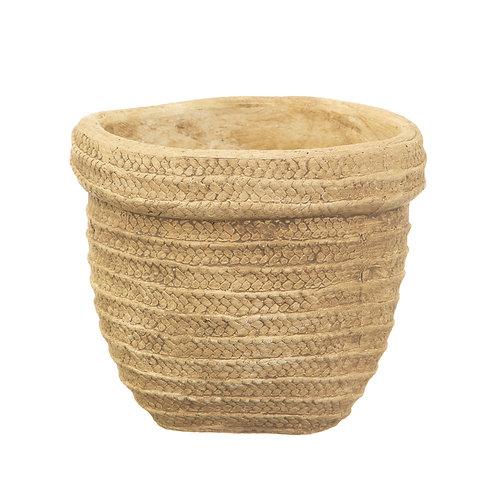 Cement basket planter