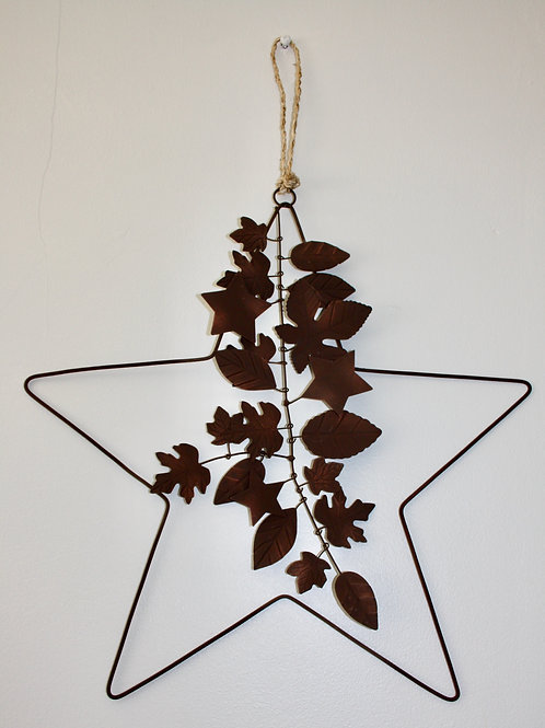 Star Wreath with Leaves