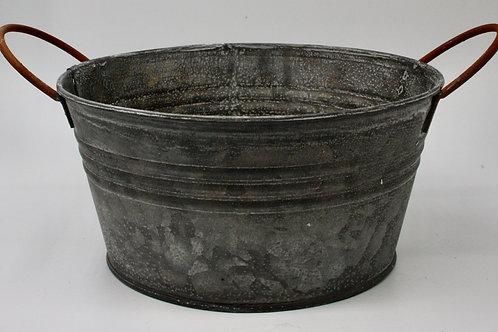 Zinc Bowl with Handles