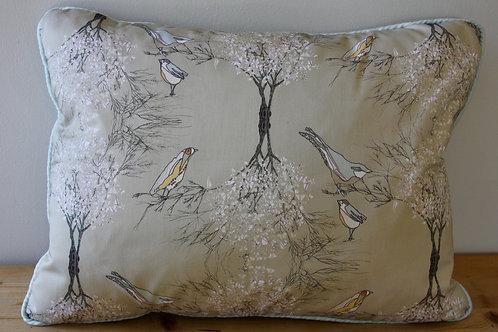 Singing Birds In Branches cushion (rectangular)