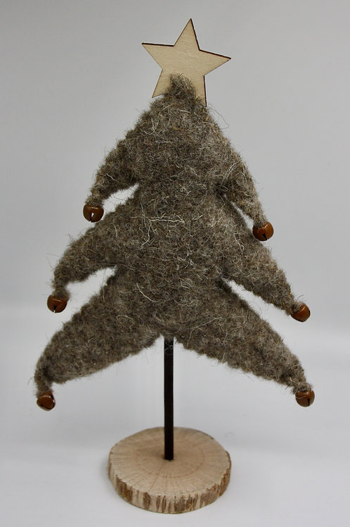Wool Christmas Tree With Bells
