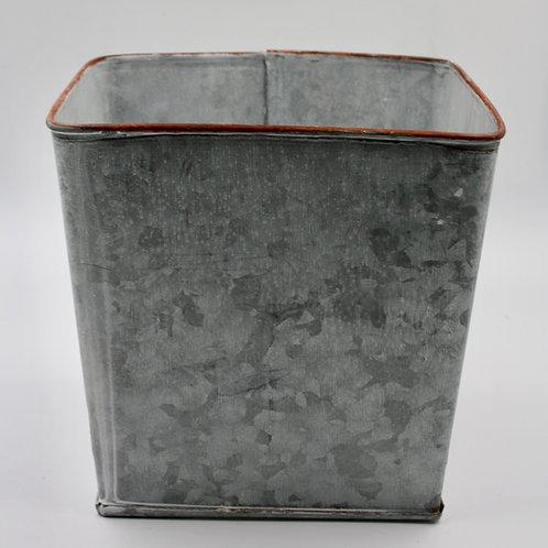 Zinc Square Plant Pot