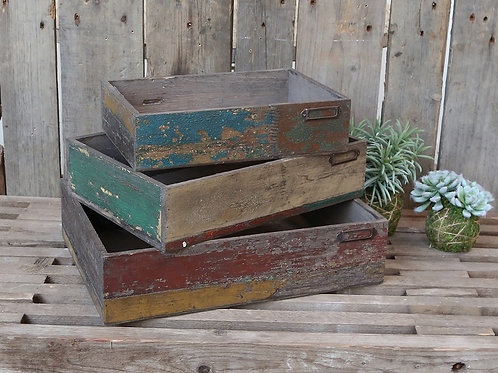 French Style Wooden Boxes (different sizes)