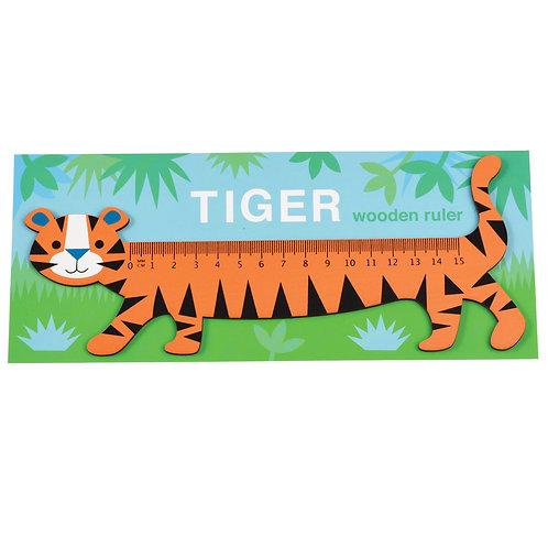 Tiger Wooden Ruler