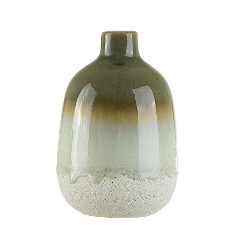 Glazed stoneware vase