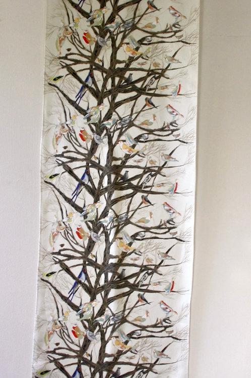 Silk Birds In Trees Scarf