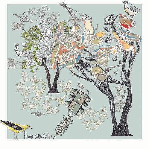 Bird Tree Greetings Card