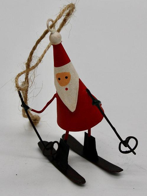 Skiing Mini Santa