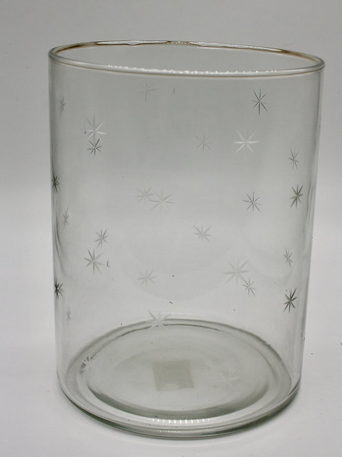 Etched Star Hurricane Glass