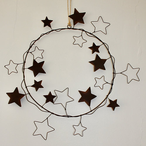 Christmas Wreath with tin stars