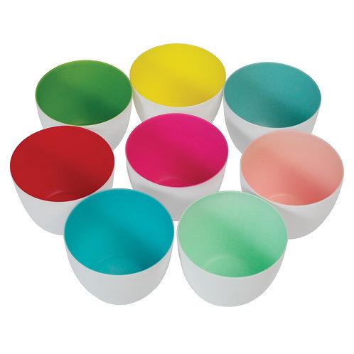 8 Colourful Porcelain Tealight Holders