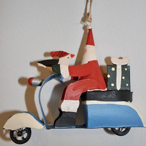Santa on Sixties Scooter
