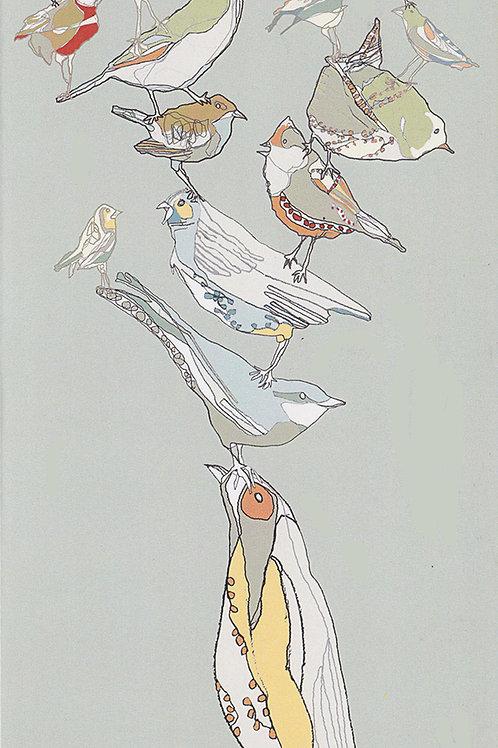 Balancing Bird Card