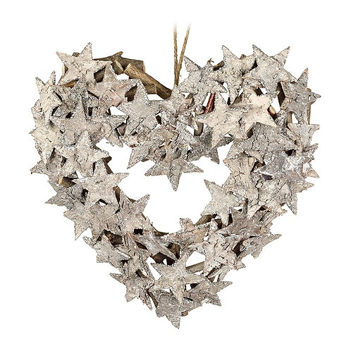 Birch Heart Wreath