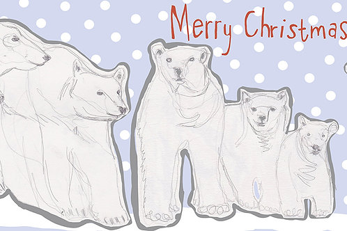 Polar Bear Family Christmas Card
