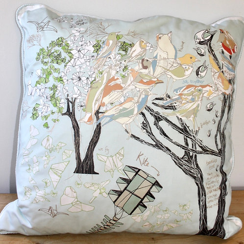 Bird Tree Cushion (Large)