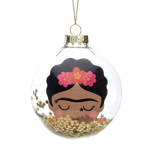 Frida Glitter Bauble