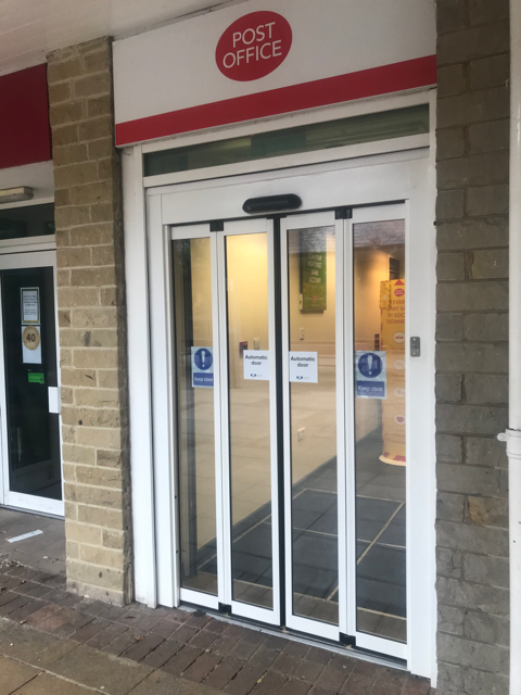 Post Office Folding Door Installation