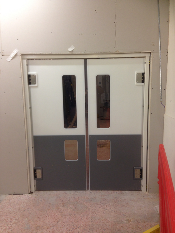 Crash door installation in Lincoln Waitrose