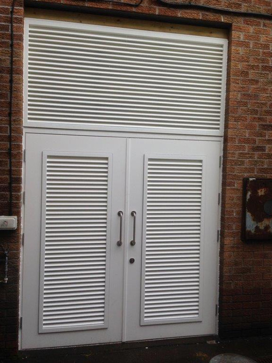Steel Fire Escape and Louvered Doors installed in South Wales