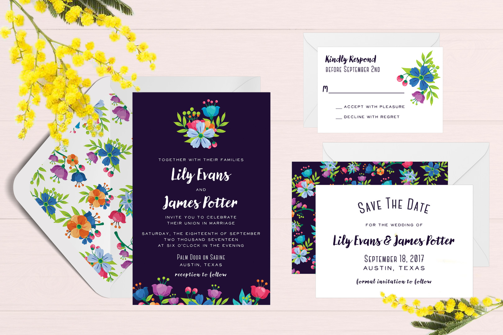Fun Floral Wedding Suite