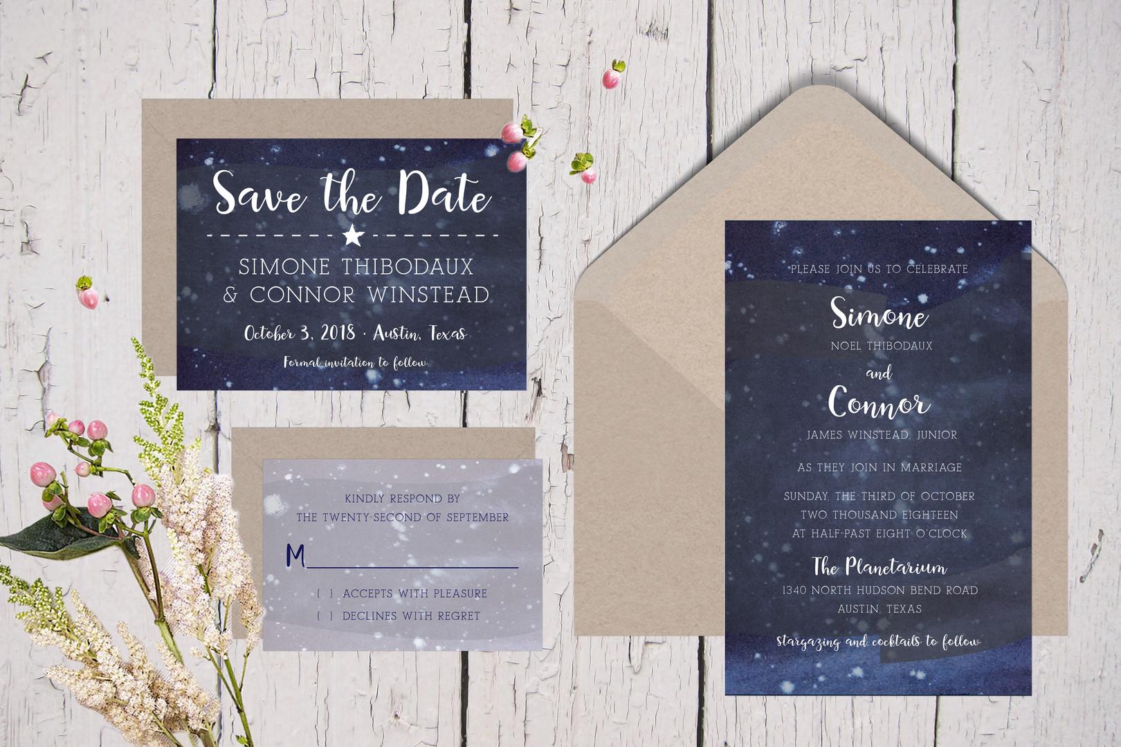 Starry Night Constellations Wedding Suite