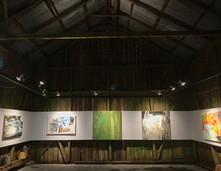 dialogue between barn space and art work