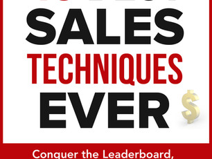The 40 Best Sales Techniques Ever is now on Amazon!