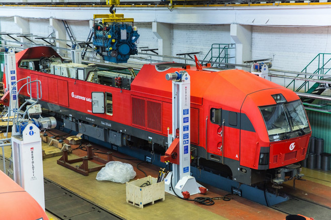 Half of the 44 engines for Lithuanian Railways overhauled