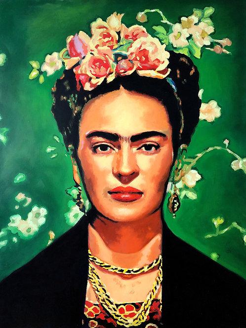 Frida Kahlo mit Kranz