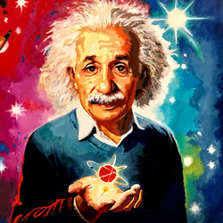 Albert_Einstein_Öl_auf_Leinen_100_x_100.