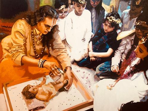 Sri Swami Vishwananda & das Jesus Kind