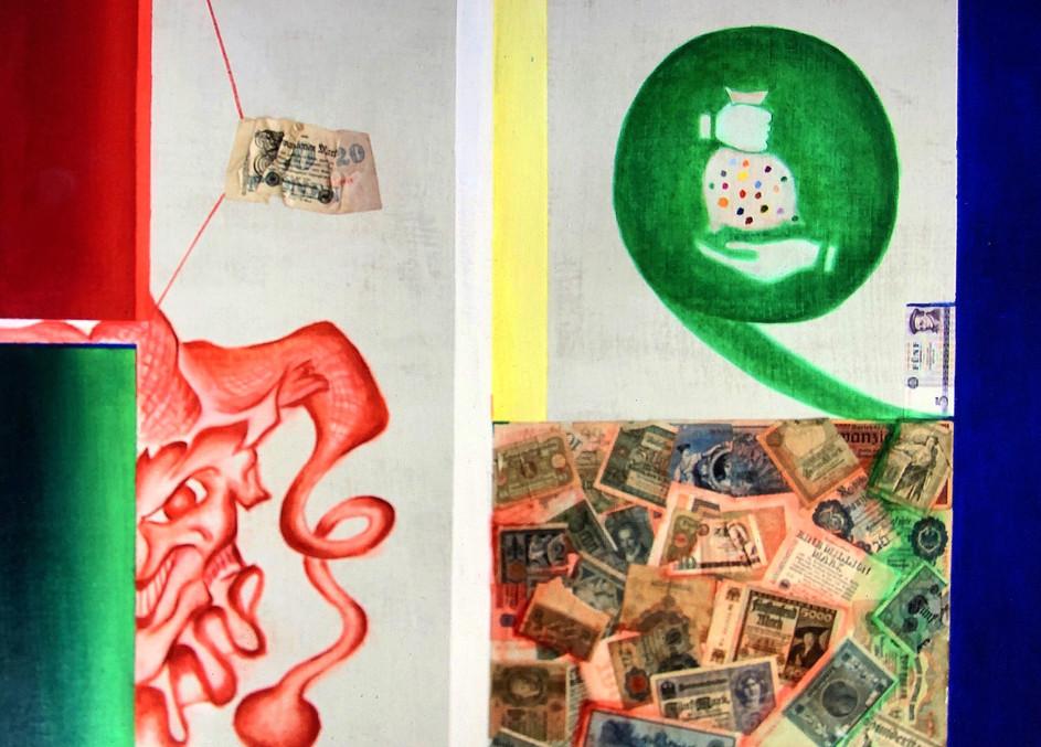 Der__Geld_Narr_Öl_auf_Leinen_105_x_105.j