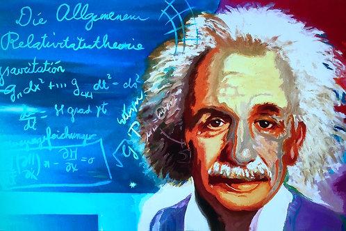 Albert Einstein -  An der Schultafel