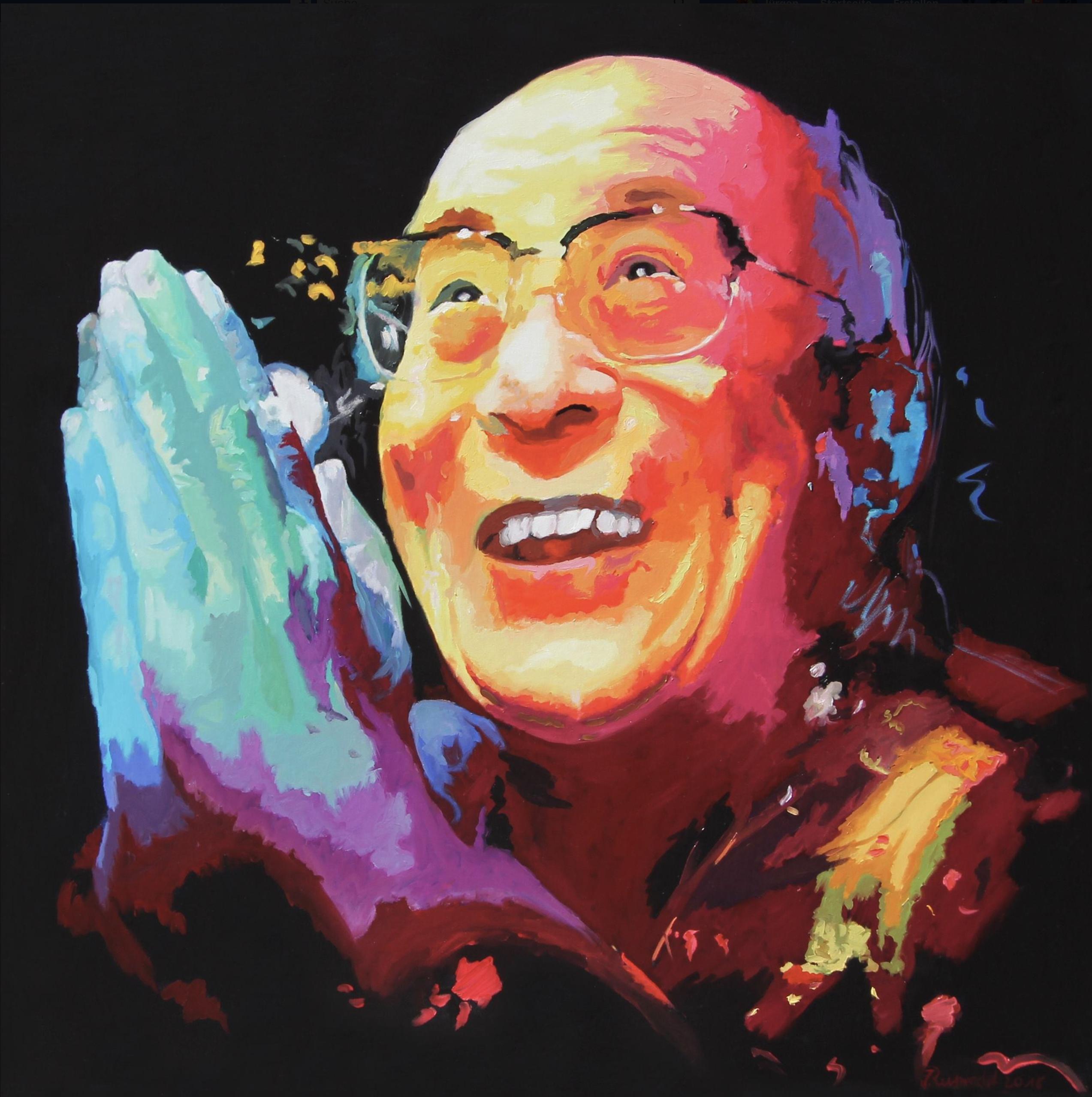Dalai_Lama_Öl_auf_Leinen_110_x_110_cm
