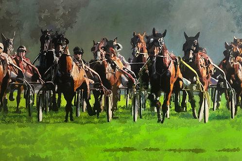 Pferde Wagenrennen
