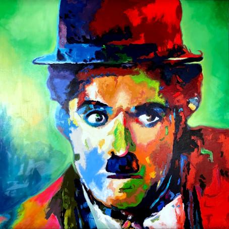 Charlie Chaplin in Expressionistischer Popart