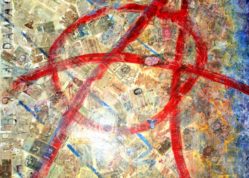 Anarchy__Colagge_Öl_auf_Leinen_130_x_18