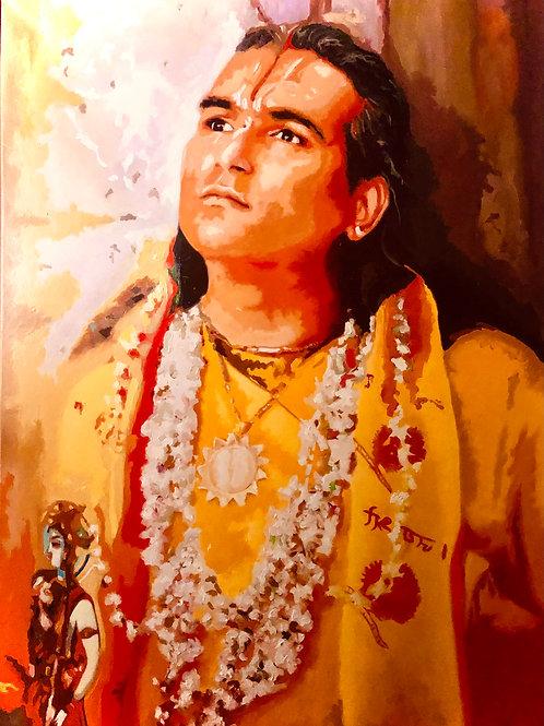 Sri Swami Vishwananda schaut