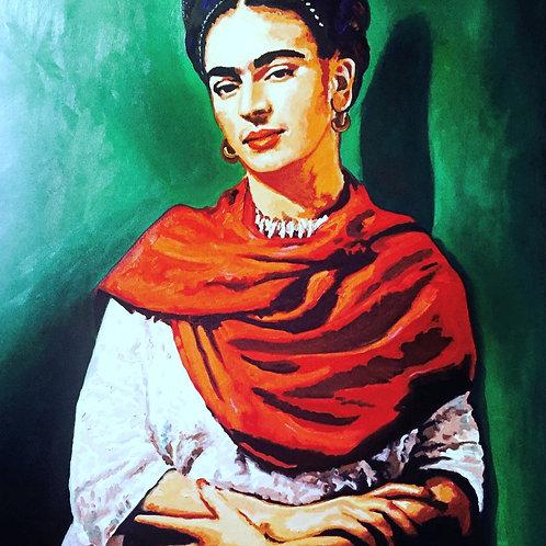 Frida Kahlo mit Halstuch
