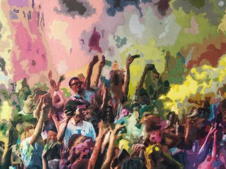 Holi Fest - Expressionistische Popart