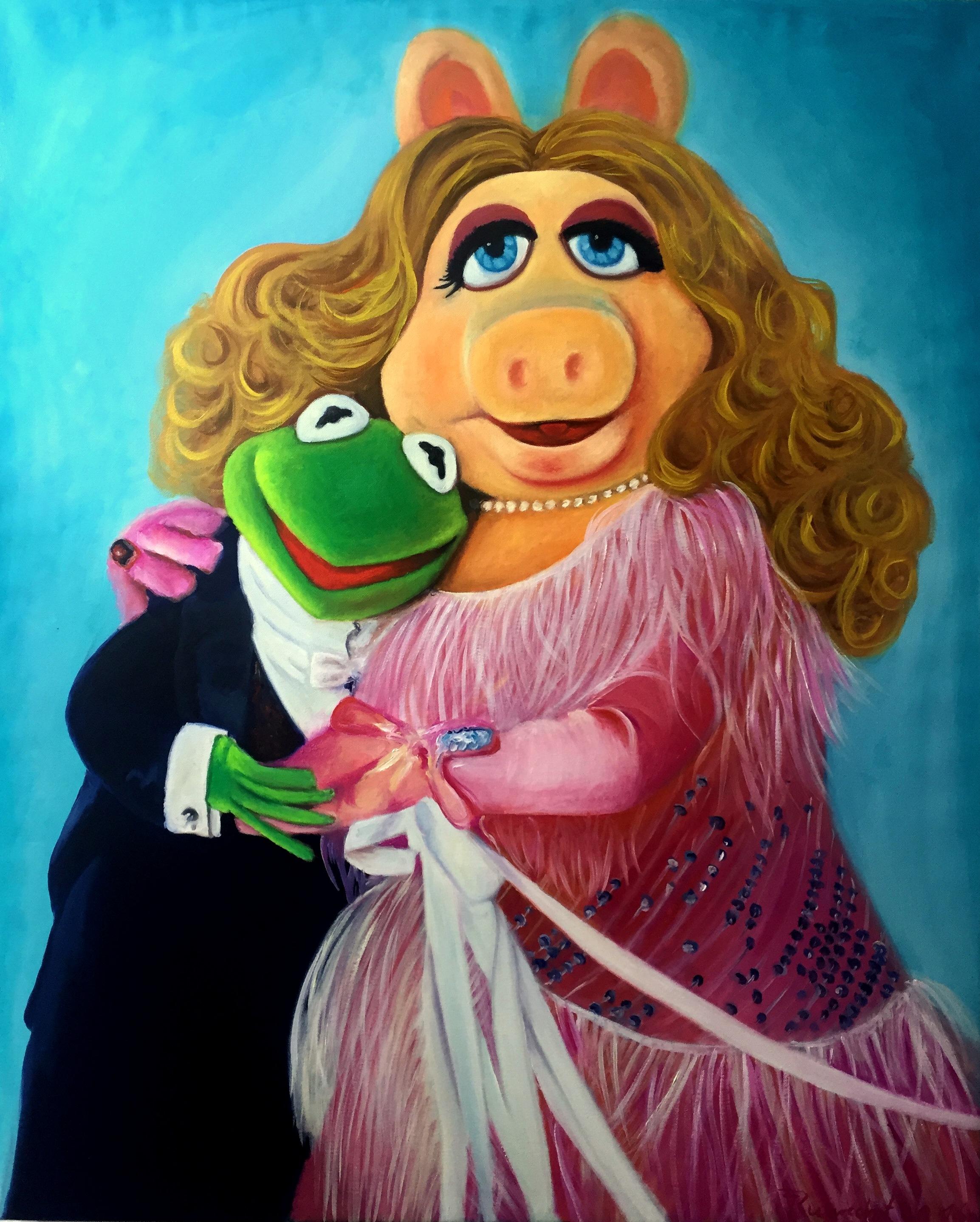 Miss Piggy und Kermit der Frosch