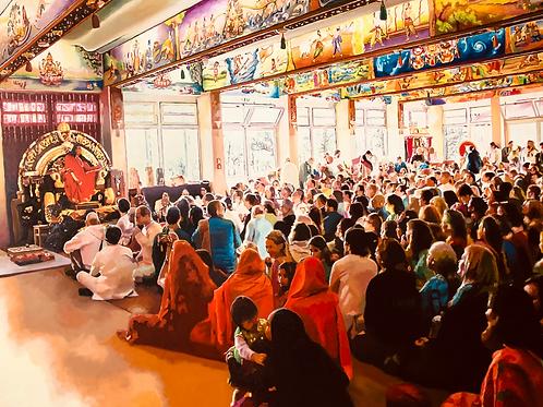 Swami Vishwanada hält Satsang